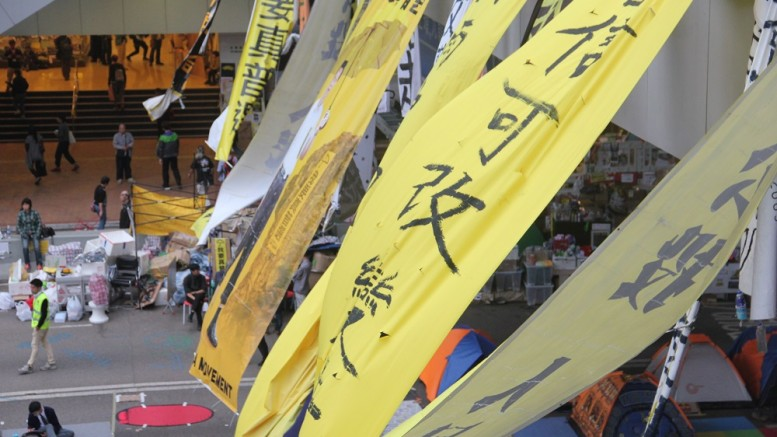 The Occupy Central (pictured) and 'localist' movement has broadened the spectrum of the pan-democratic camp.