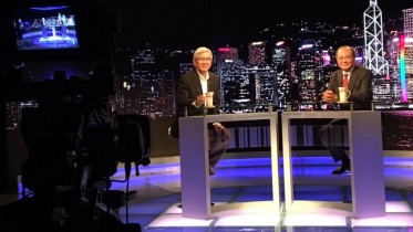 Education minister Eddie Ng speaks on TSA at a TV programme. His letter to school principals order an end of drilling has caused a fresh row.