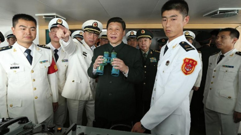 Xi Jinping inspects at the Guangzhou military theater of operations of the PLA on December 8, 2012.