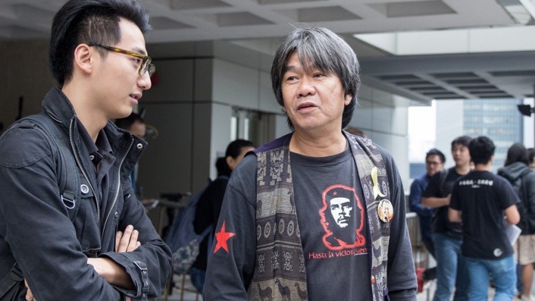 """Long Hair"" Leung Kwok-hung, who often wears T-shirt emblazoned with the image of his idol Cuba revolutionary hero Che Guaevara, believes violent resistance won't be effective in Hong Kong."