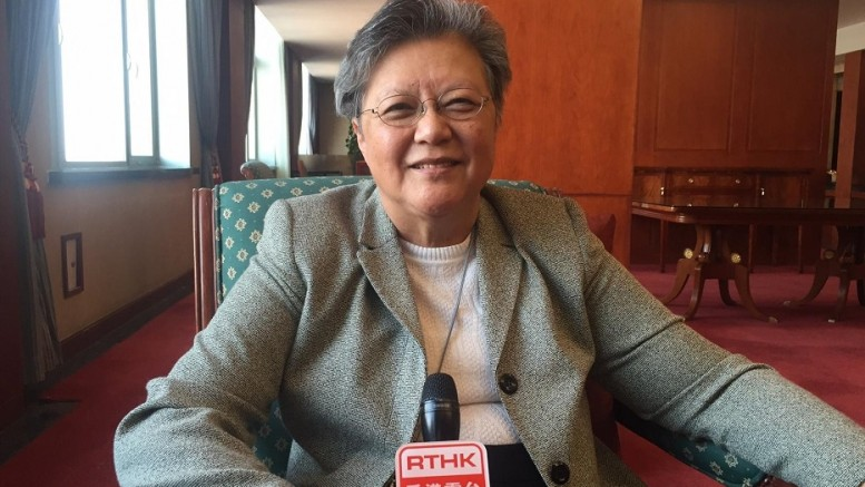 Rita Fan Hsu Lai-tai, a Hong Kong member in China's top legislature, ridicules C Y Leung's pledge to unite Hong Kong.