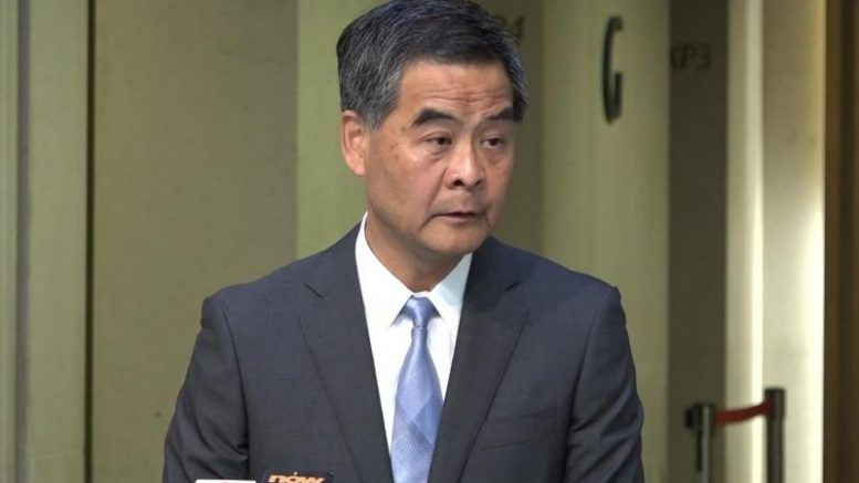 Chief Executive Leung Chun-ying is non-committal on re-election in his words, while taking steps forward for his bid for another term.