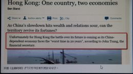 What the fuss about Financial Secretary John Tsang's alleged remarks saying the mainland economy faces 'the worst time in 20 years' is all about?