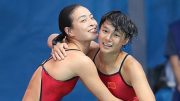 Diving queen Wu Minxia teams up with Shi Tingmao to win women synchronised 3 meter springboard event at the Rio Olympics.