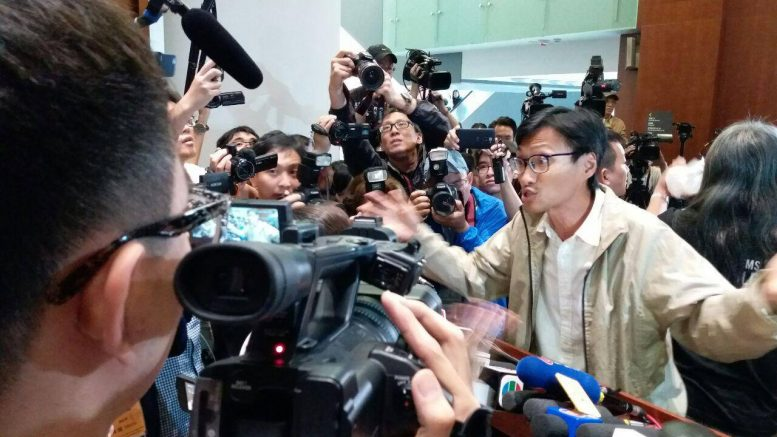 Legislator Eddie Chu Hoi-dick, the 'king of votes' in last month's Legco election, vows to fight for 'democratic self-determination' of Hong Kong's future.