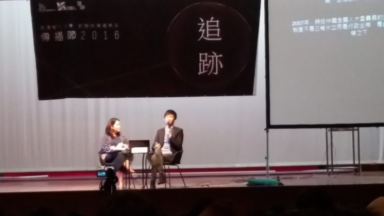 """I have no regret,"" says Youngspiration's Sixtus Leung Chun-hang at a Shue Yan University student assembly when asked about a High Court verdict on the disqualification of the seats of him and Yau Wai-ching."