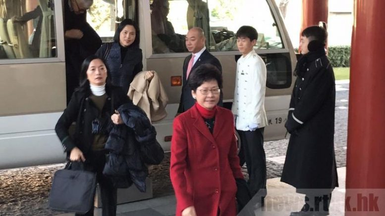 Chief Secretary Carrie Lam steals the limelight from Chief Executive Leung Chun-ying, who is on his last duty visit to Beijing in his current term. Lam is in Beijing to attend an event relating to the 20th anniversary of Hong Kong's handover next year.