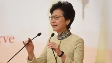 Chief Secretary Carrie Lam Cheng Yuet-ngor keeps silent on her reported election bid for the next chief executive.