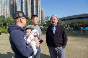 Former financial chief John Tsang Chun-wah mounts a charm offensive to mingle with the ordinary people.