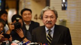 John Tsang Chun-wah, former financial secretary, shows he can fight as he said at a press conference to declare his bid for the chief executive.