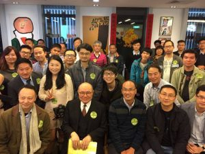 Woo Kwok-hing, meets with supporters at the weekend.