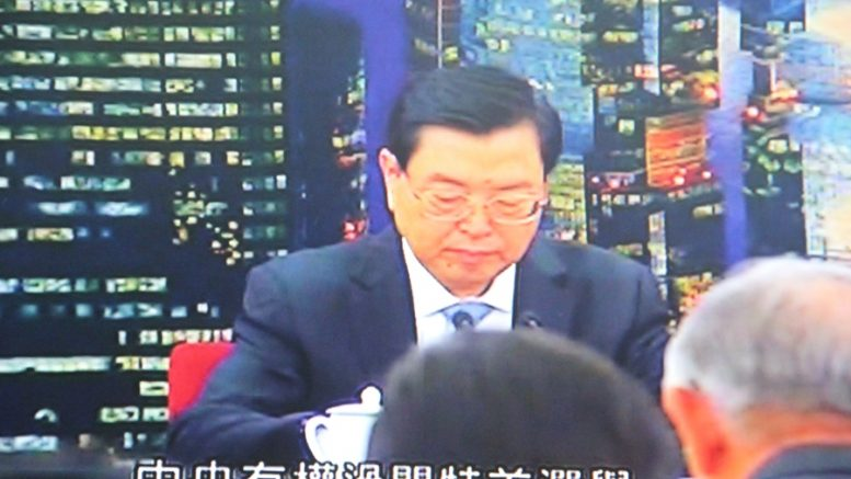 NPC chairman Zhang Dejiang drops more hints of Beijing's preference for Carrie Lam for the next chief executive at a meeting in Beijing.