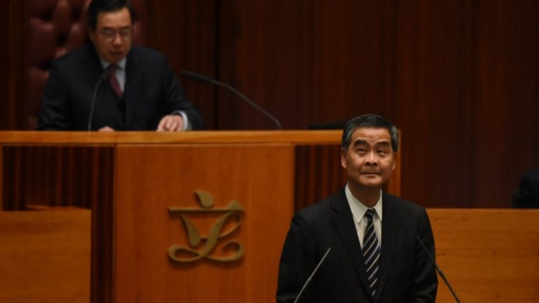 Chief Executive Leung Chun-ying defends his deal with UGL... at all cost.