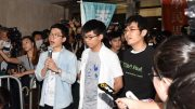 Three young student leaders of the Umbrella Movement put to jail.