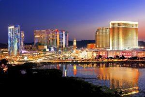 The glittering Macau at night.