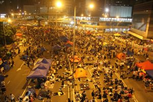 Protesters stage a 79-day sit-in in Admiralty.
