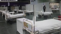 What the fuss of seeking mainland help for makeshift hospital? Hospital Authority makes final preparation for makeshift beds at Asia-Expo Centre in Tung Chung.