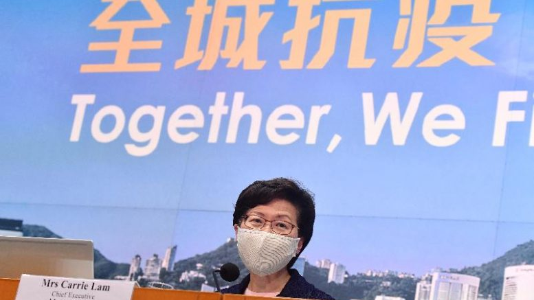 CE Carrie Lam announces postponement of Legco election.