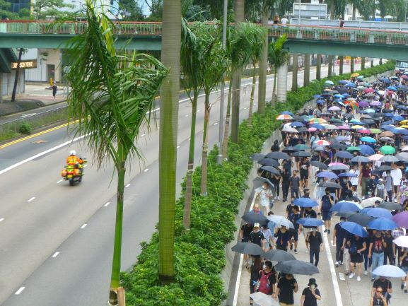 A rally organised by the Civil Human Rights Front in Hong Kong Island.