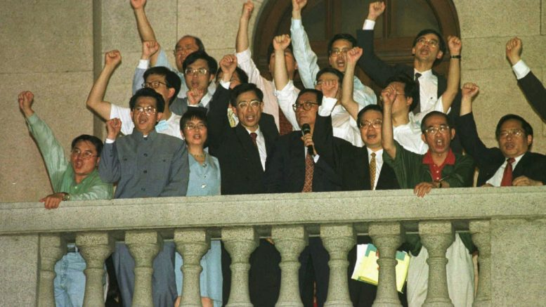 Democrats vow to come back to the legislature after being ousted from the pre-1997 Legco.