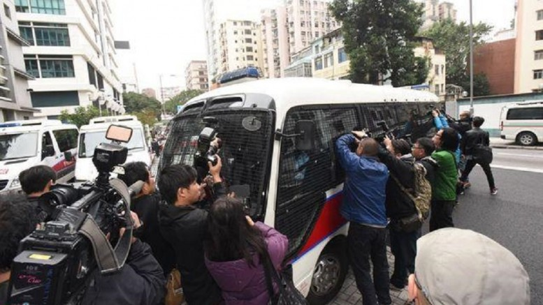 Alleged rioters in the Mongkok disturbances on Lunar New Year's Day are taken to court. They face rioting charges.