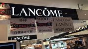 Lancome shops in Hong Kong as protesters express anger at cancellation of Denise Ho's concert.
