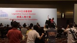 Chaos erupted at a Electoral Affairs Commission briefing for candidates contesting for the Legislative Council election on Tuesday. Protesters are infuriated with the decisions to disqualify candidates deemed as separatists.