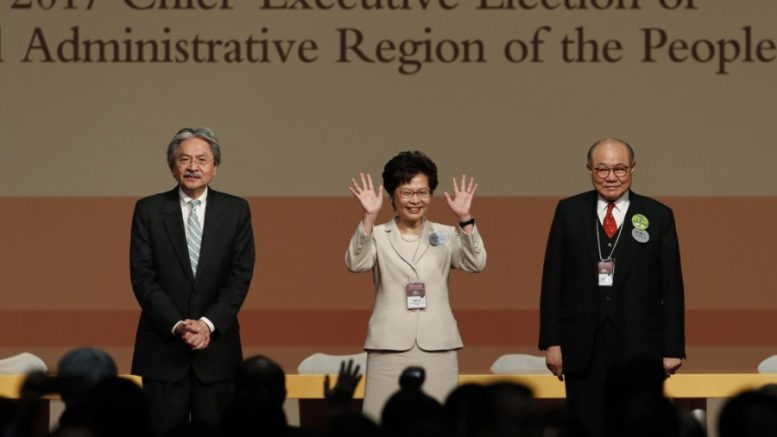 Carrie Lam grabs 777 votes to become the next chief executive.