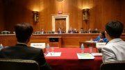 Joshua Wong Chi-fung testifies at a US congressional hearing on Hong Kong.