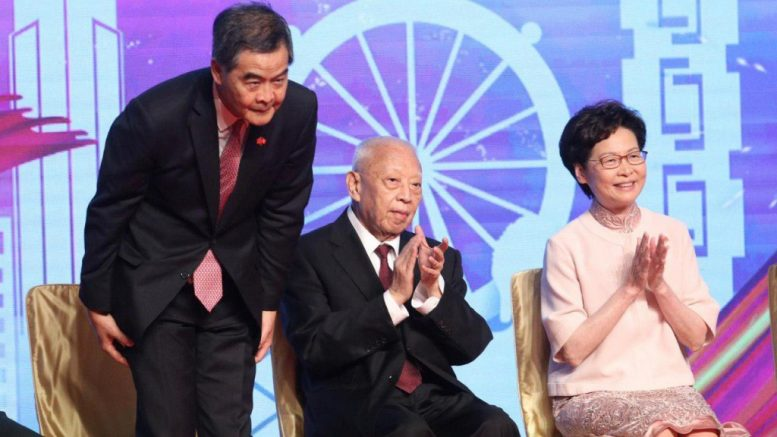 Former chief executives C Y Leung and C H Tung make veiled attack against Carrie Lam's stance on universal coronavirus test.
