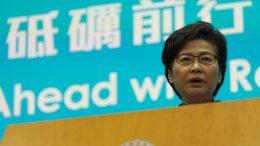 Carrie Lam vows to restart Hong Kong.